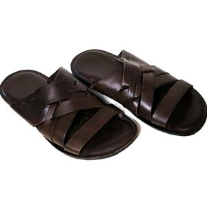 Men's Geox Respira Brown Slide Sandals EU:41